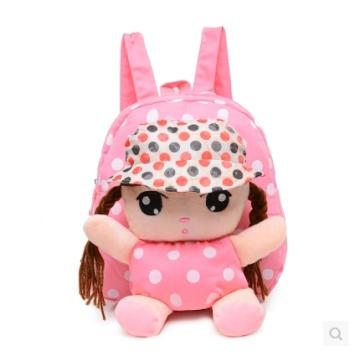 韩版卡通儿童书包幼儿园男女童可爱双肩安吉拉娃娃包
