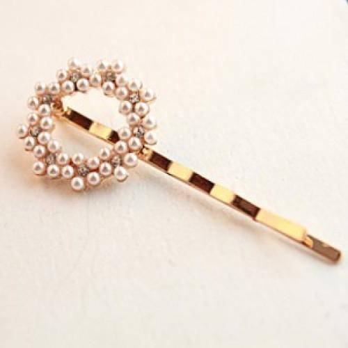 Pearl bow rhinestone flower flowers love the Sun Pearl hair accessories hairpin clip