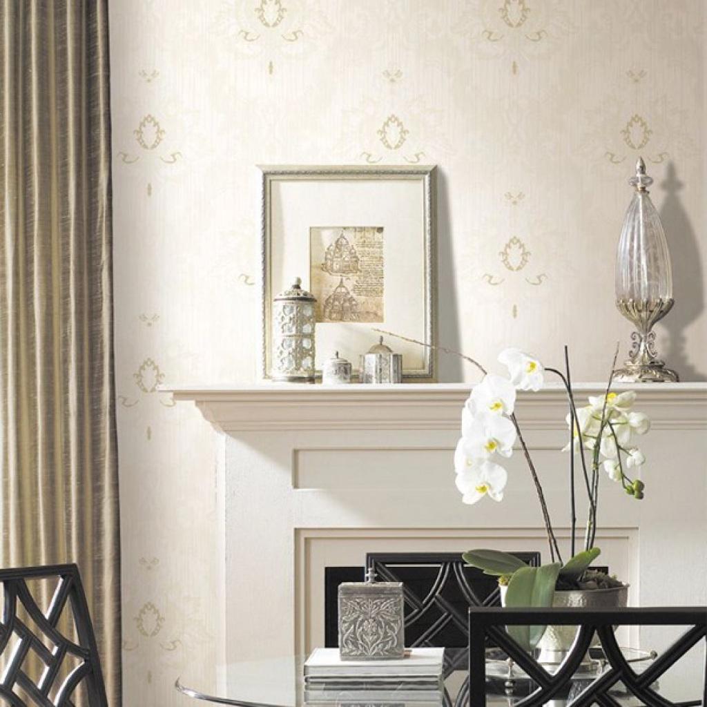 地宝龙无纺布墙纸欧式简约纯色卧室客厅满铺电视背景