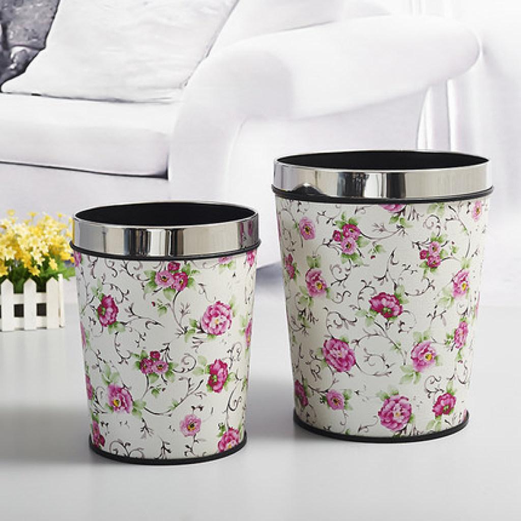 欧式创意时尚垃圾桶田园无盖酒店卫生间垃圾桶