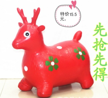 Factory direct sales jump Vault PVC inflatable cartoon animal PVC inflatable toy animals, such as cattle and sheep