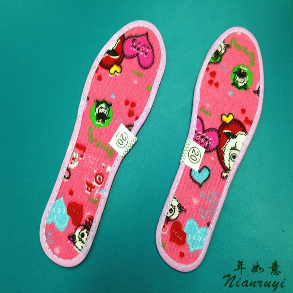 批发 儿童竹炭全棉鞋垫 小孩鞋垫卡通图案 吸汗 透气