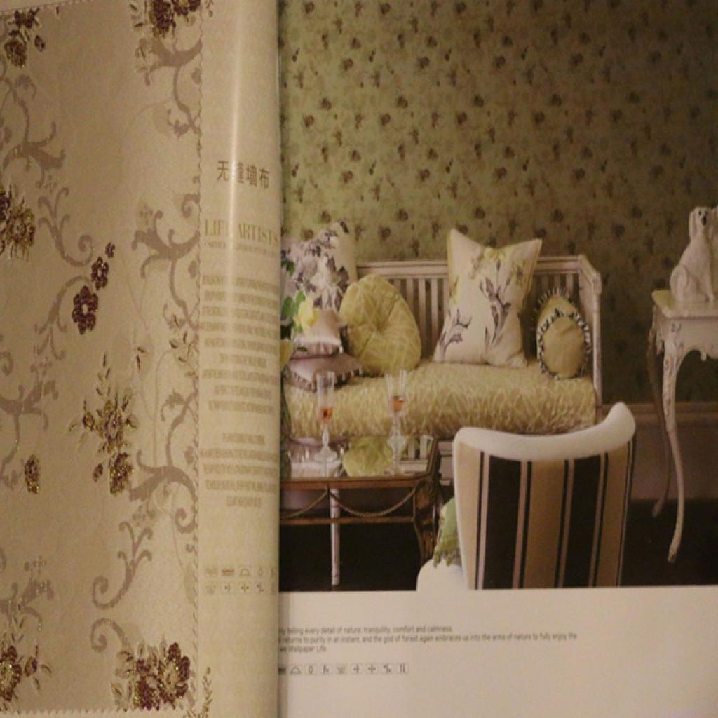 地宝龙无缝墙布欧式现代简约风客厅卧室墙布