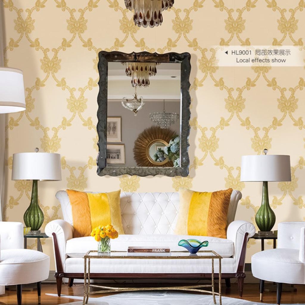 地宝龙3d现代简约墙纸欧式卧室客厅书房电视背景环保