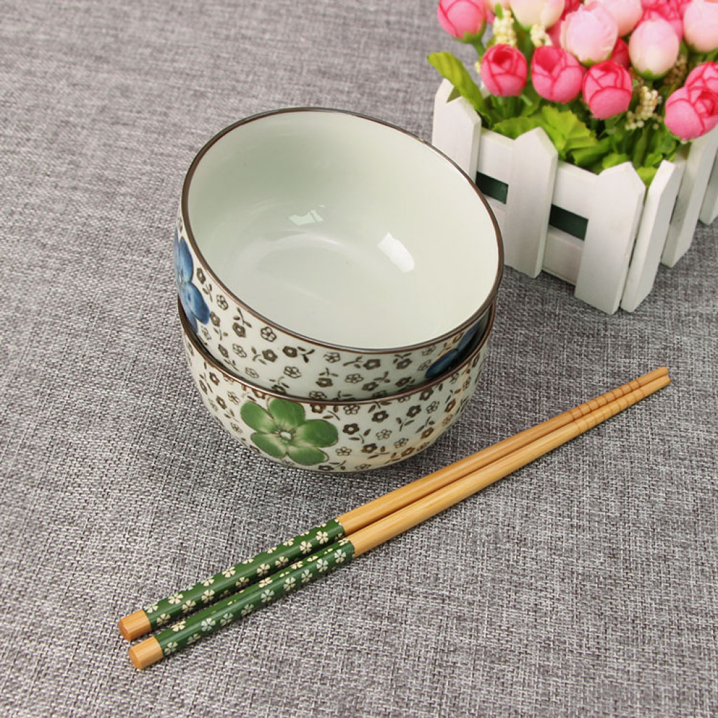 Supply Wedding gift ideas hand-painted tableware and chopsticks set to ...