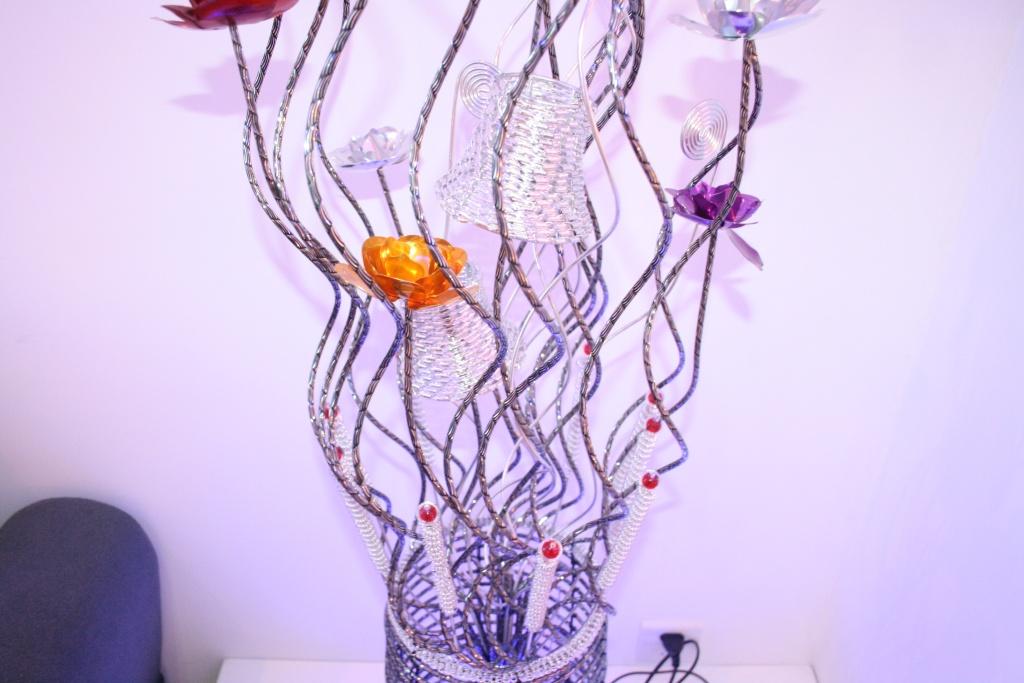 新款手工编织铝线家用灯,铝线工艺灯,高档装饰灯