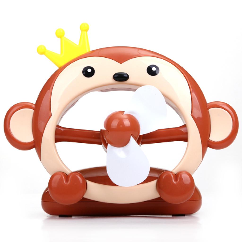 卡通皇冠猴充电风扇 usb迷你小风扇