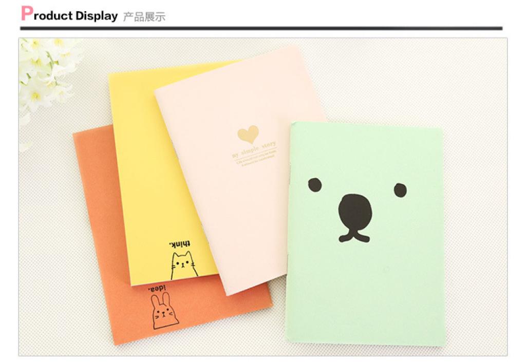 q 日韩国文具 可爱糖果色 卡通小号笔记事本 笔记本