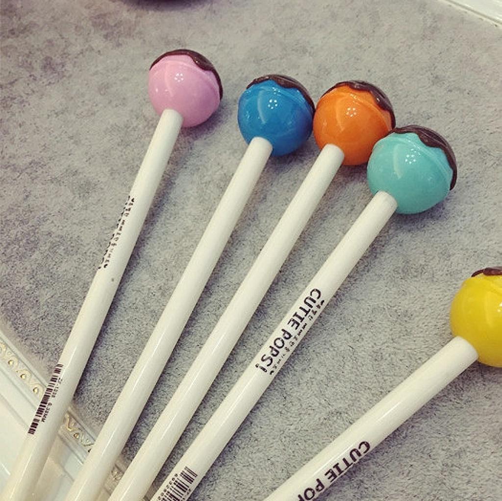 2015爆款日韩创意可爱棒棒糖造型圆珠笔原子笔