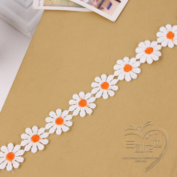 Yiwu water soluble embroidery lace garment accessory factory direct from stock polyester lacing