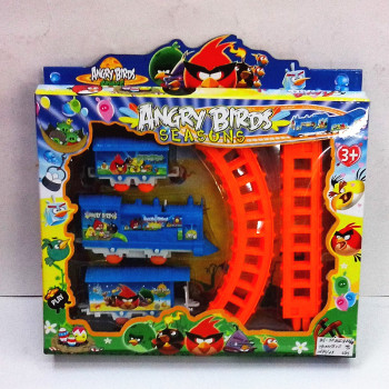 Track toy plastic puzzle electric track boxed children's educational toys angry birds track car