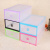 The latest explosion of double color box drawer pull box candy color box color transparent ladies shoe