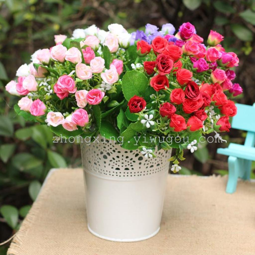 Supply Simulation simulation spring flowers wholesale artificial flowers Rose