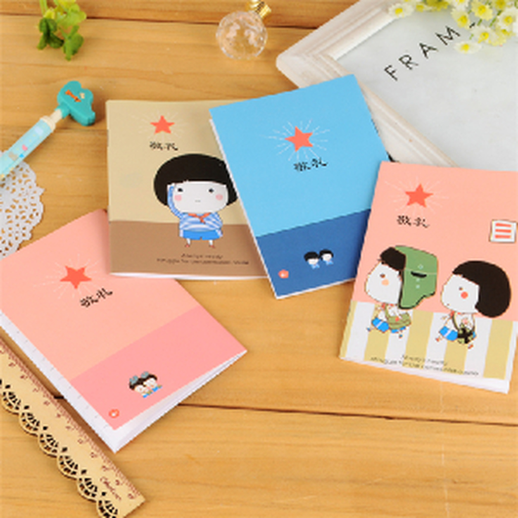 可爱卡通记事本子 敬礼系列小笔记本日记本