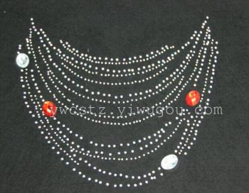 The latest hotfix rhinestones collar necklaces heat transfer apparel accessories jewelry thermal transfer