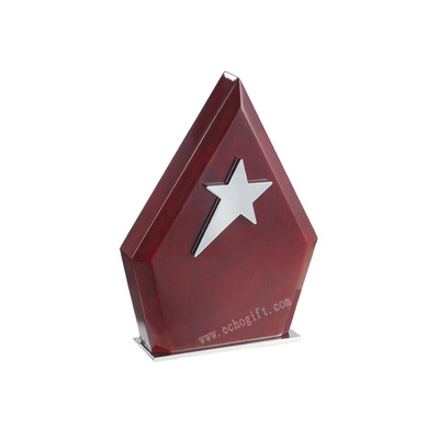 Medal production of wooden medal custom-made star cup solid wood medal five-point star alloy MEDALS wholesale