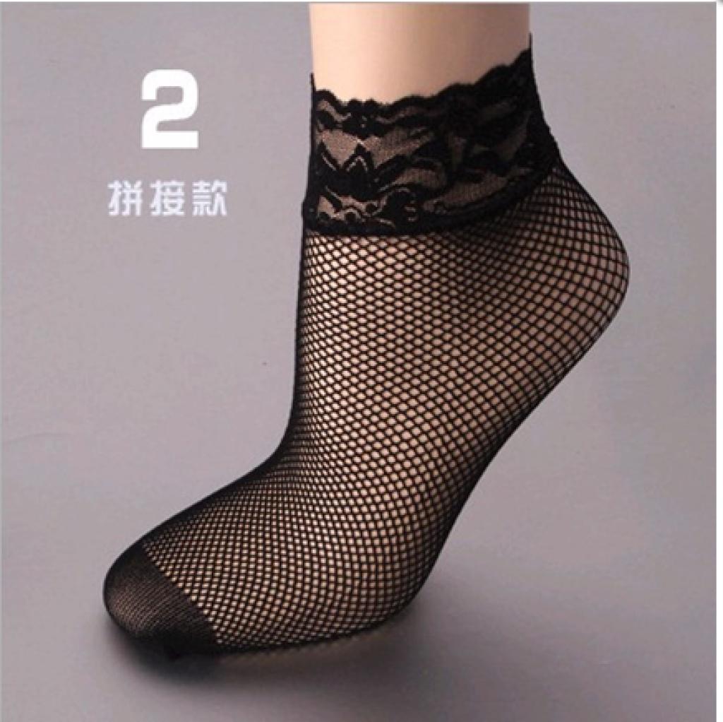 进口黑色蕾丝花边性感丝袜