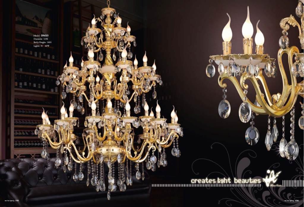 欧式水晶吊灯锌合金玉石水晶灯客厅卧室灯具别墅吊灯
