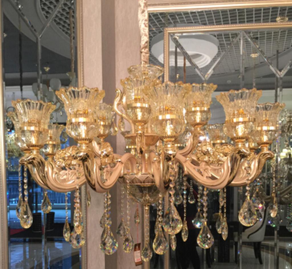 欧式水晶奢华客厅餐厅卧室吊灯