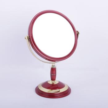 台式化妆镜 欧式镜子双面梳妆镜 便携公主镜 反面3倍放大