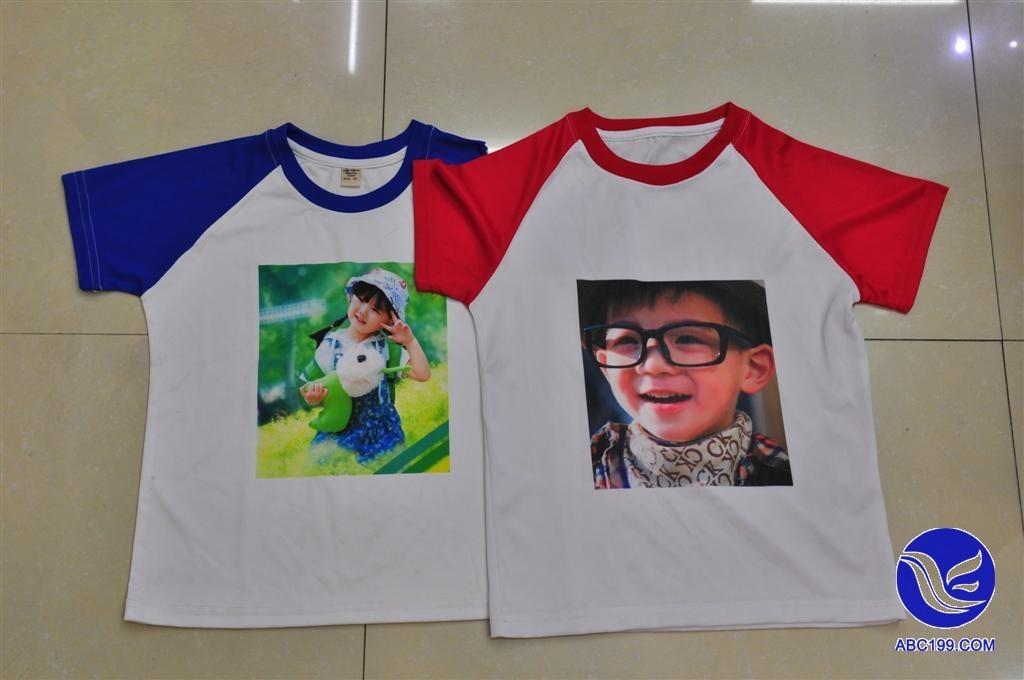 儿童纯白色t恤印花空白圆领文化衫广告衫班服幼儿园