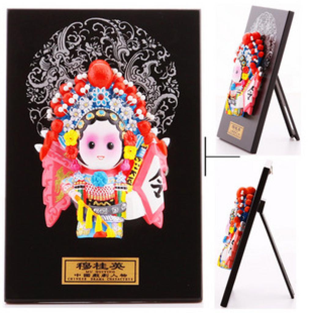 旅游工艺品q版脸谱陶瓷摆件三国人物系列关羽 黄忠