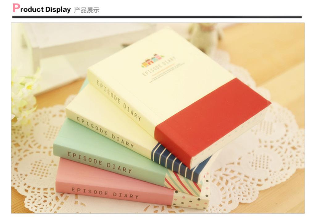 a韩国文具可爱小清新创意超厚彩页纸笔记本/日记本子
