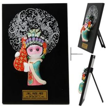 Large supply of tourism crafts Q version of Facebook opera figure four beauty of ceramic handicrafts