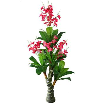 Phalaenopsis plant simulation feel spiral fake fake flowers crafts artificial tree