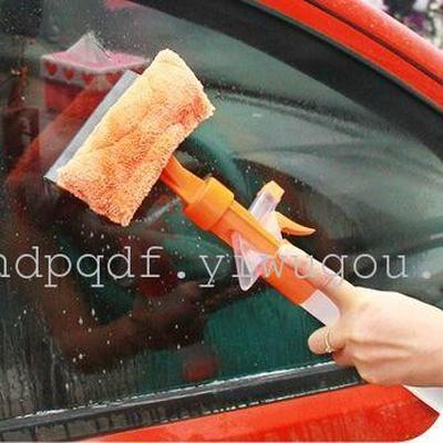 Multifunctional telescopic handle glass cleaner glass cleaner on both sides blow spray window cleaner