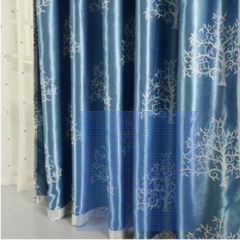 浅蓝色欧式窗帘图片