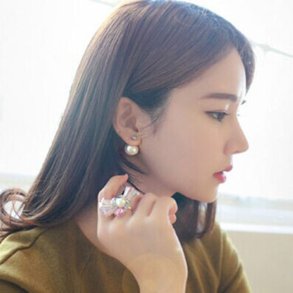 时尚百搭经典锆石珍珠女耳环耳钉图片
