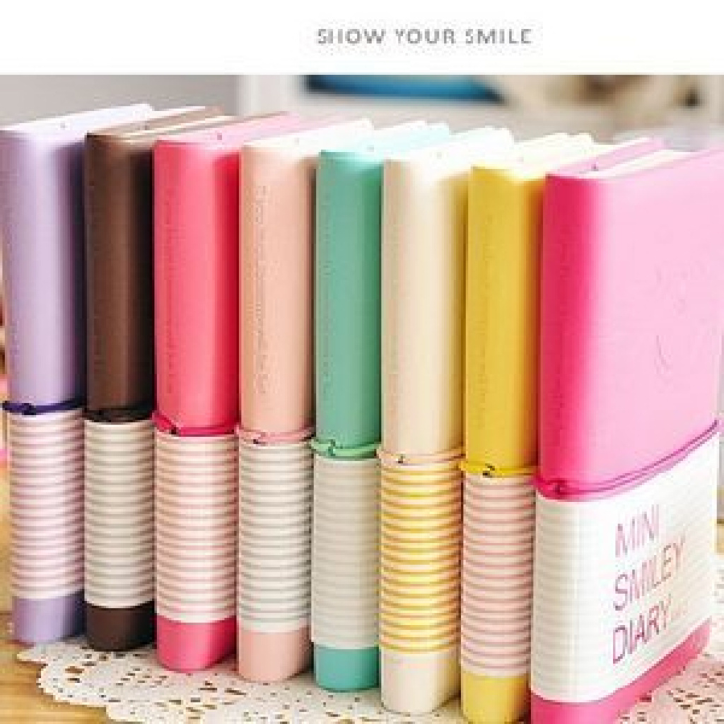 a可爱笑脸皮套便签本 微笑表情皮套日记本记事本