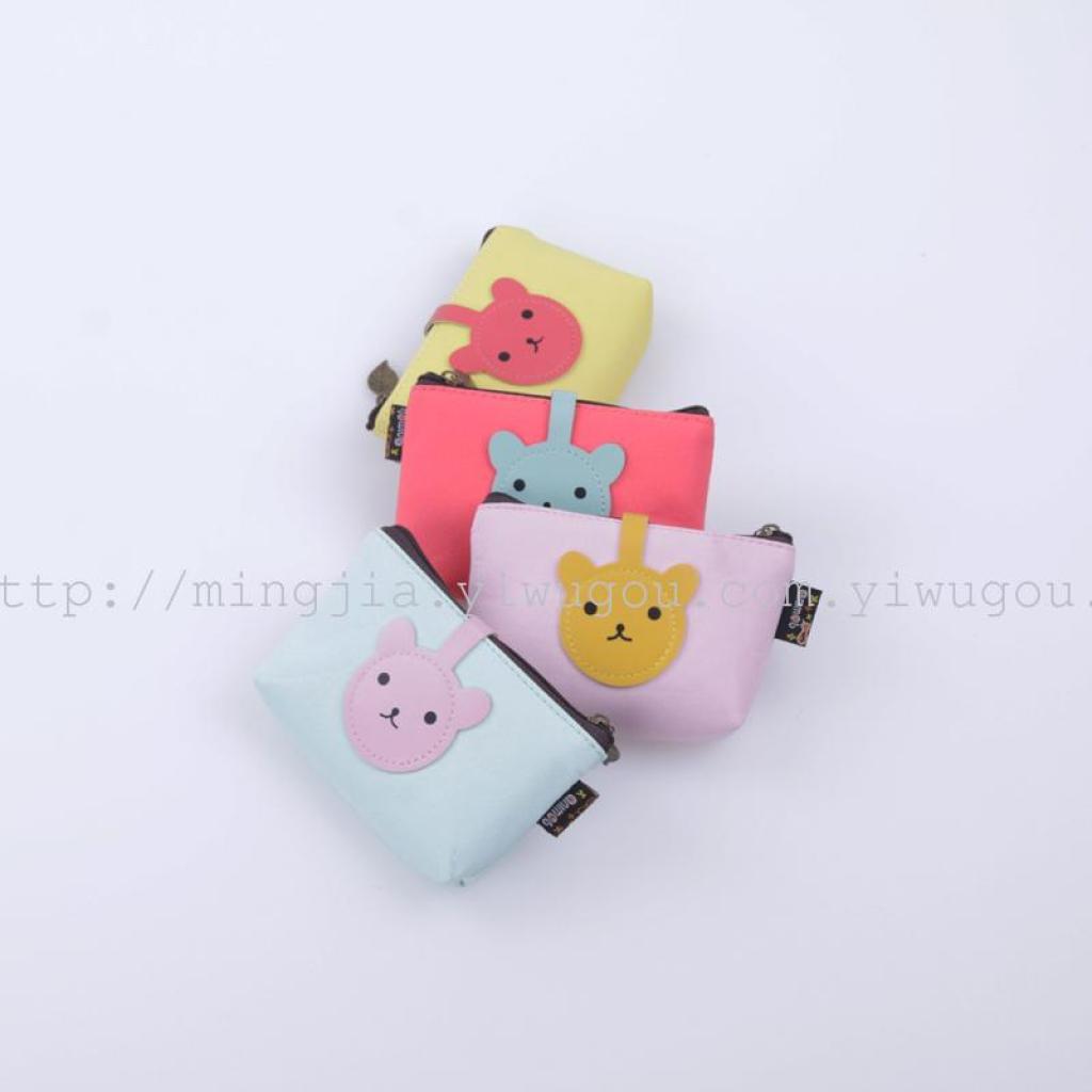 新款可爱小熊软皮零钱硬币卡通包硬币包