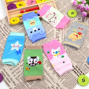 The new children's socks kneecaps baby nursing cute cartoon pattern cuff