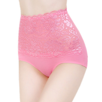 High waist mesh tummy ladies sexy lace shaping panty wholesale 5602