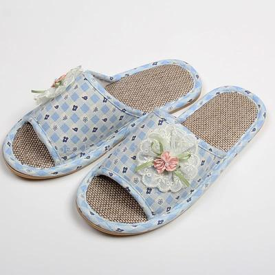 Kangle house flower slippers No. 4 new small fresh cotton slippers.