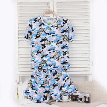 Taobao selling children bourette shorts suit pajamas Pyjamas