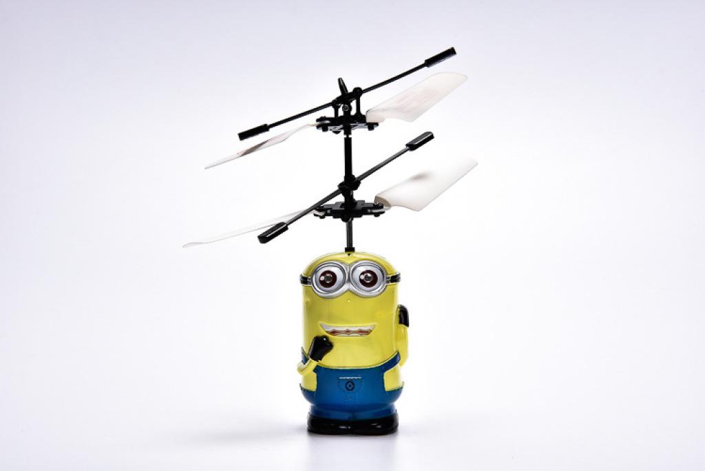 2015新款小黄人飞行器公园玩具小孩新奇感应地摊发光