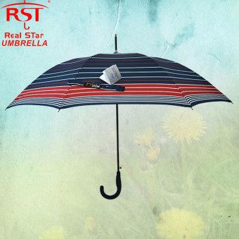【rst1479】ネイビーストライプのまっすぐな傘雨傘日傘
