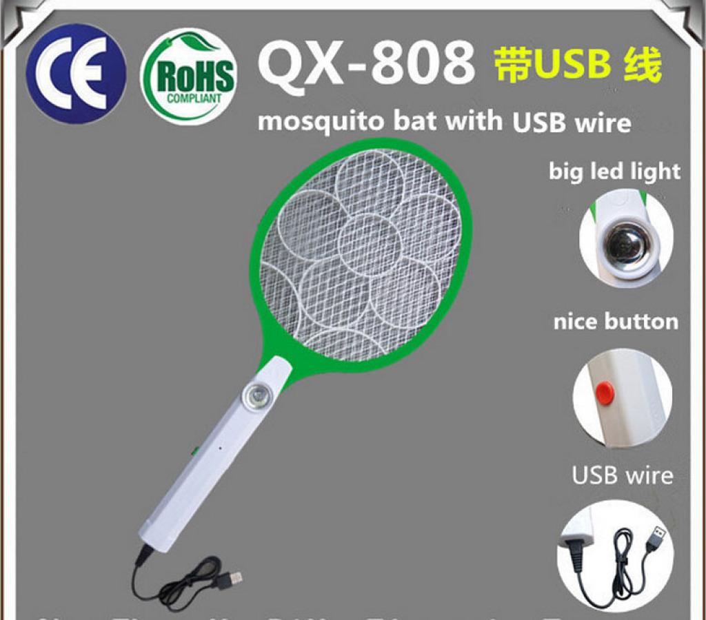 带usb或电源线充电蚊拍
