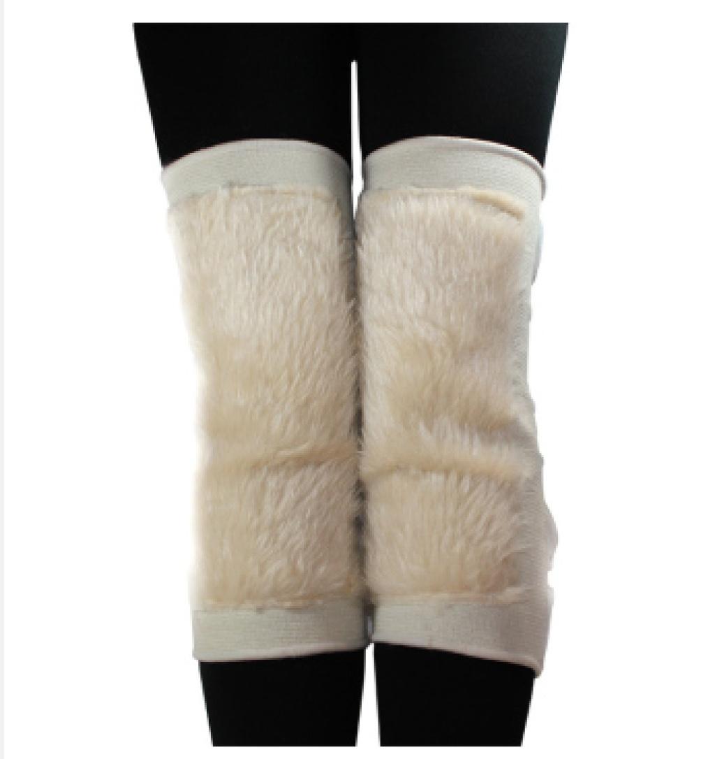 编织树叶图案护膝