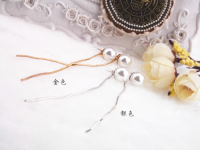 Korea dual rear-mounted before and after Pearl Earrings Lady earrings are hypoallergenic ear Stud Earrings jewelry