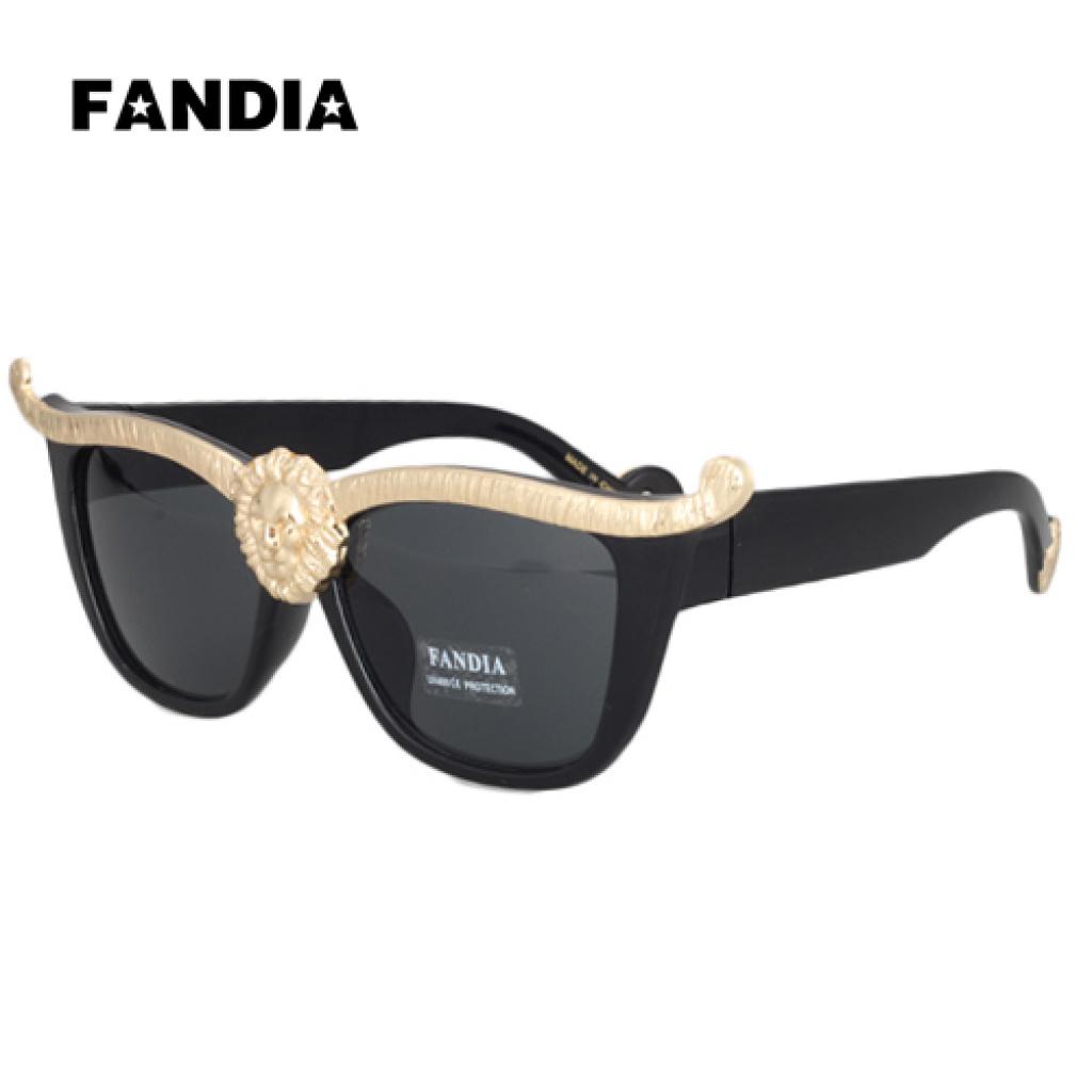 FANDIA 96880 Европа звезды львиная голова прохладно пара модные солнцезащитные очки