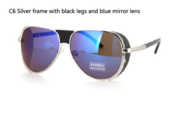 reflective circle sunglasses  retro reflective