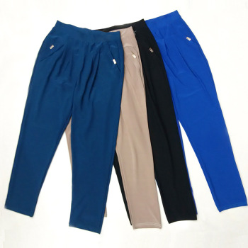 New messy pants plus size slimming pants slacks women solid color leggings