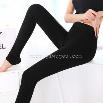 Lady thicken super-soft brushed one colorful cotton winter warm charcoal pants skinny toe leggings pants