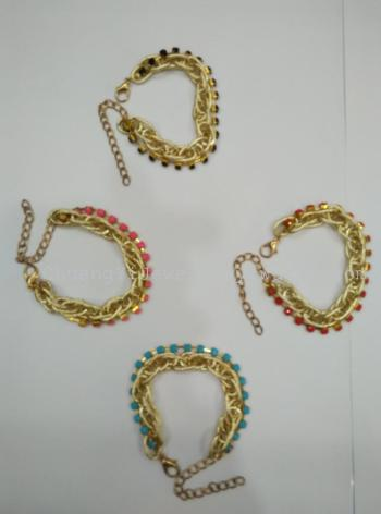 Creative jewelry fashion in Europe and America the perfect neutral aluminum bracelet chain acrylic fingernail chain