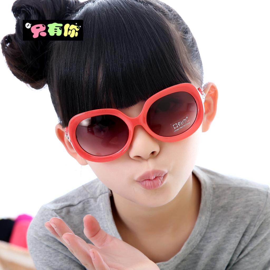 008儿童节礼物品牌儿童眼镜墨镜可爱小红帽钻儿童