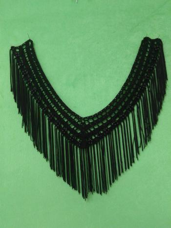 纯手工钩针编织带溜须珍珠假衣领服装领口